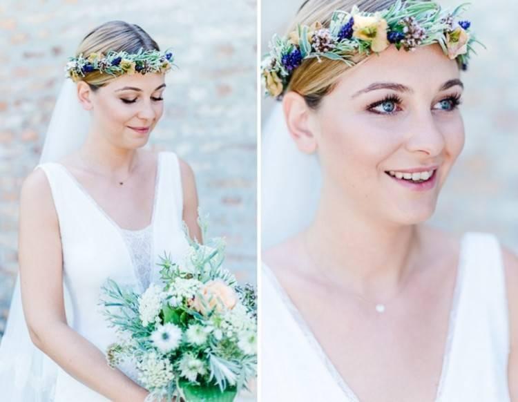 Haarschmuck mit Blumen für Bräute – 50 Bilder | Hochzeit
