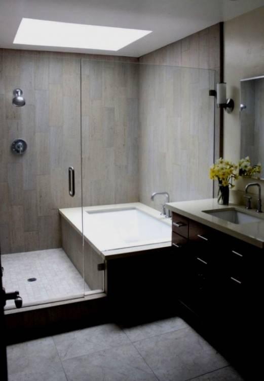 Kleine Bäder mit Badewanne und Dusche einrichten – 32 Ideen | Badezimmer