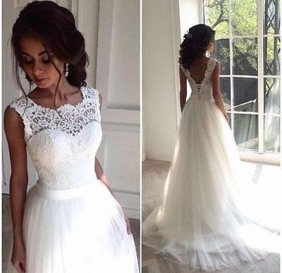 Brautkleid/Hochzeitskleid elfenbein Gr