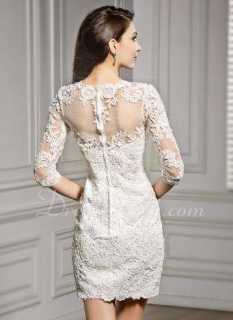 YASIOU Brautkleid Damen Vintage Kurz Weiß Tüll Spitze Eng Glitzer Trägerlos  Herzausschnitt Band Hochzeitskleid: Amazon