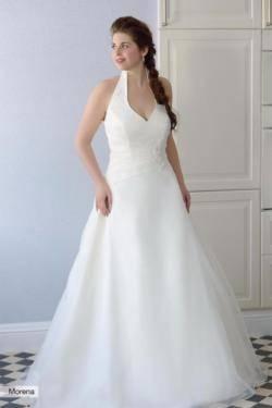 Hochzeitskleid Creme Gr