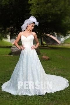 Brautkleid, Hochzeitskleid elfenbein mit Schleppe Gr