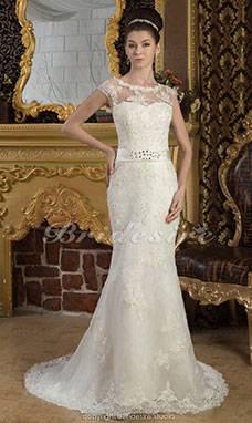 Großhandel Vintage Tüll Hochzeitskleid Sweep Zug Spaghetti Trägern Liebsten Hals Brautkleider China Sleeveless Applique Mermaid Brautkleid Von Bridalworld,