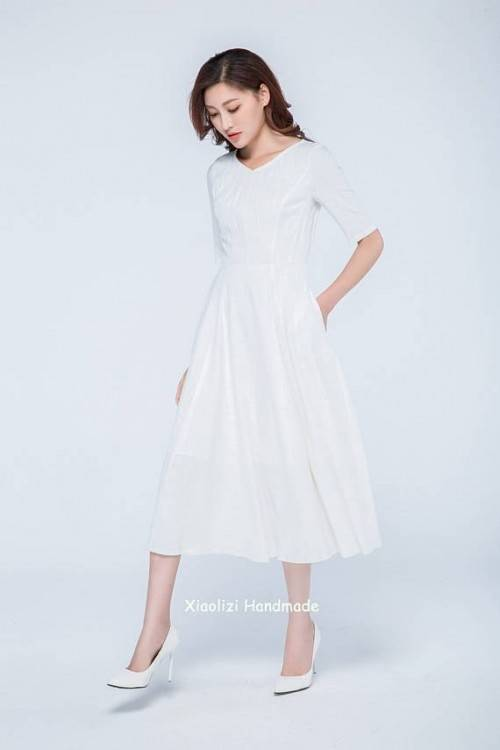 Hochzeitskleid Midi Gr