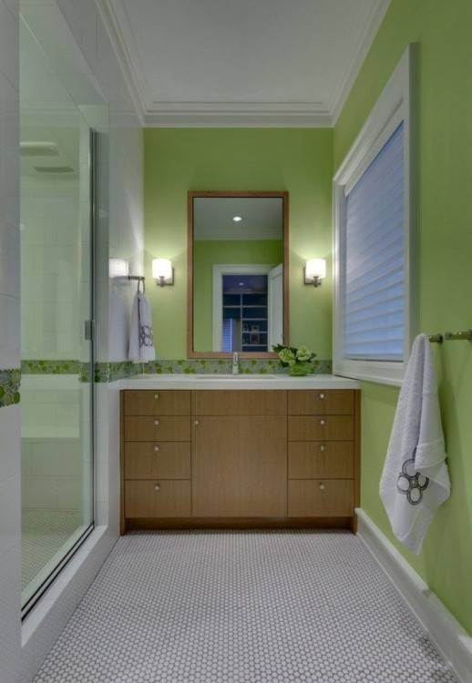 ideen fr kleine bder und badezimmer bilder Kleine Bäder Design fuer baeder dunkel gruen nuance mosaik