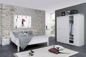 Moon / Rio Schlafzimmer Komplettset Bettanlage Kleiderschrank Driftwood 1