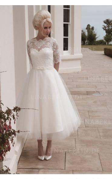 Luxus Weiß Brautkleid Abendkleid Ballkleid Perlen Kristall