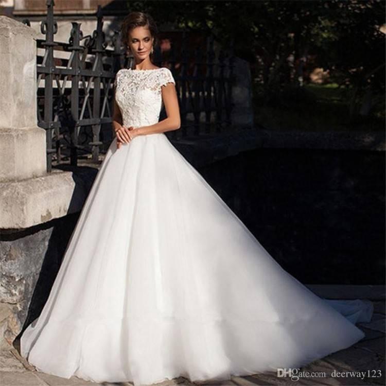 Brautkleid Hochzeitskleid Spitze weiß Schmetterling NEU Gr