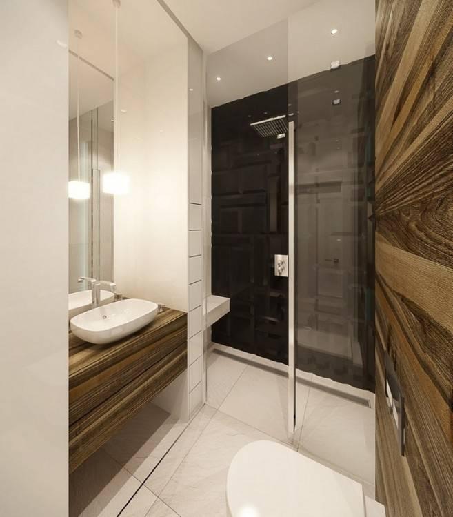 Eine Wandnische in der Dusche bietet Platz für Duschgel und Co