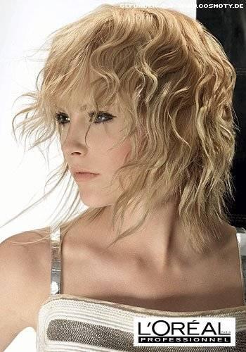 Leichte Wellen Ins Haar Elegant Frisuren Mittellang Schnitte Und Stylings Für Schulterlange Haare