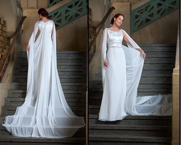 Hochzeitskleid, Brautkleid, Schleppe, Gr