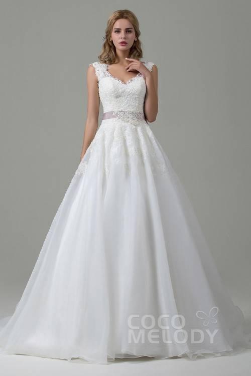 NUOJIA Spitze Hochzeitskleid Strand Lang Tüll Böhmischen Boho Brautkleider  Standesamt: Amazon