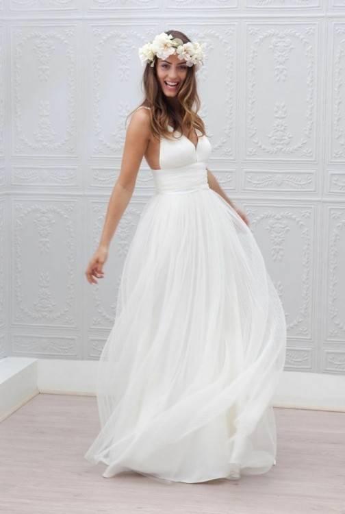 Modern Spitze Hochzeitskleid LC257