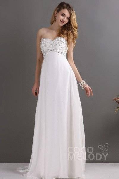 Mingxuerong Spitzen Hochzeitskleid Empire Stil Lang Rückenfrei Aline Brautkleid Empire: Amazon