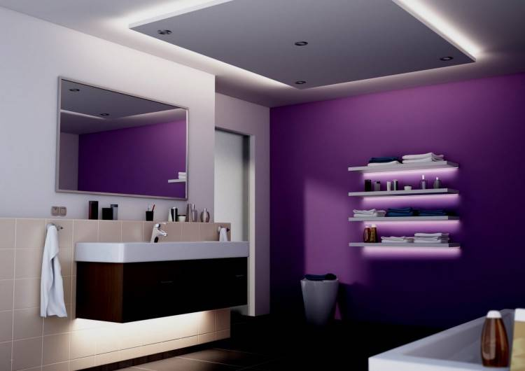 Gallery for Led Beleuchtung Badezimmer Bad Decken Ideen