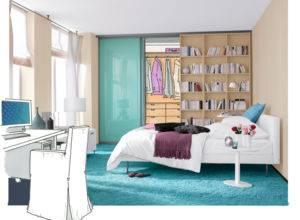 Schlafzimmer im Keller einrichten kommode tischlampe bezüge Gemütliches Schlafzimmer