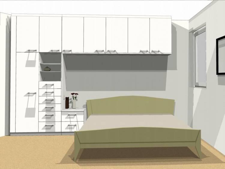 Gebraucht Schlafzimmer mit Überbau Bett 200x200 in 95685 Falkenberg um € 250