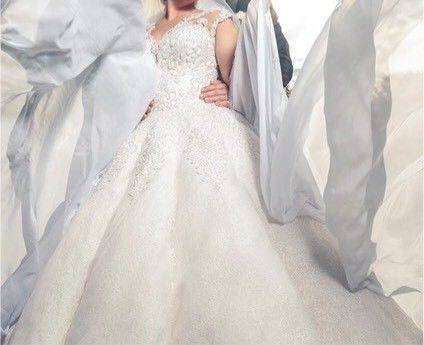 Brautkleid Schleppe Hochzeitskleider Duchesse Herzogin