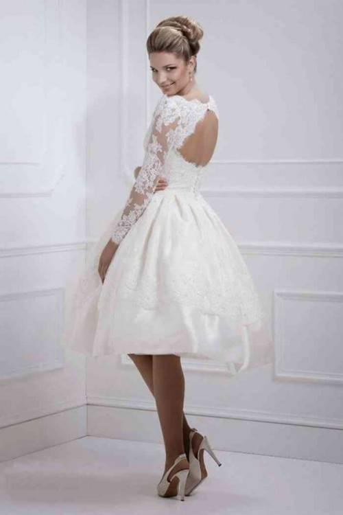 Hochzeitskleid, Brautkleid, Kurz von Amelie Bridal Gr