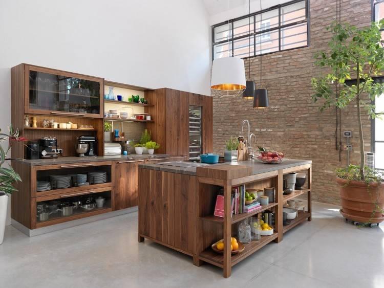 Küche im Industrie Loft Style mit Plattenüberhang und Bora Professional Rev 2