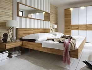 Massivholz Schlafzimmer 160 Kiefer creme lack