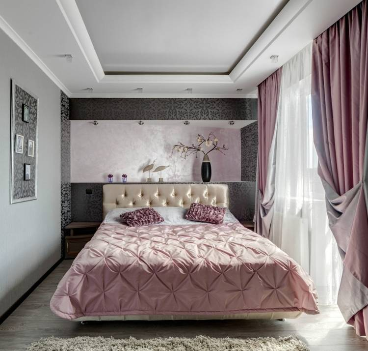 Genial Schlafzimmer Rosa Grau