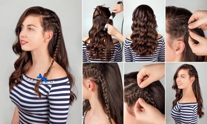 Einfache  und natürliche Hochzeit Haar