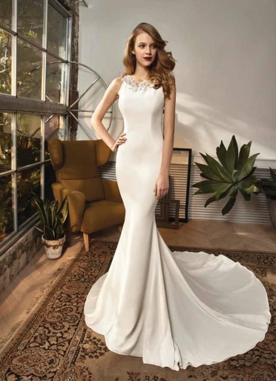 BH0971 Brautkleid Ivory Spitze mit Tüll