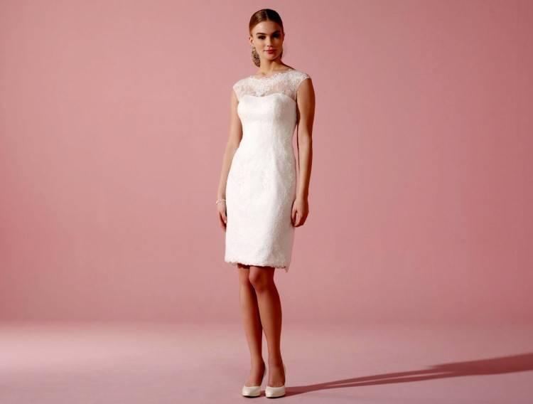 Brautkleid Hochzeitskleid Etuikleid Abendkleid Bianco Events Creme Gr