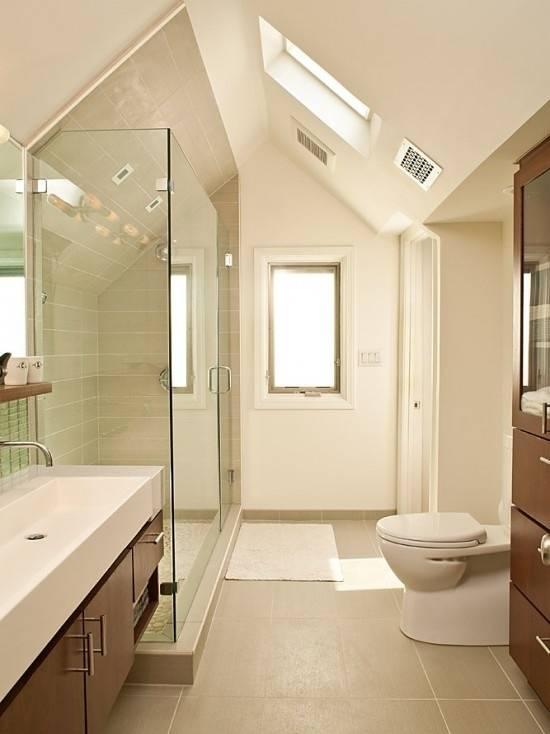 Dachumbau, Badezimmer, Bad, Dachbad, Dachschrägenbad, Dachschräge, Dusche,