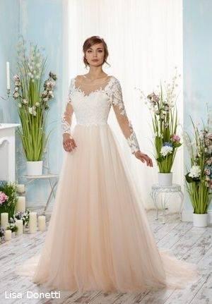 Vintage Brautkleid Hochzeitskleid Creme Weiß Ivory Spitze Gr