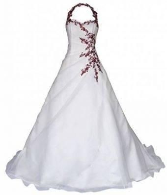 Lohrengel Hochzeitskleid beige bordeaux Gr