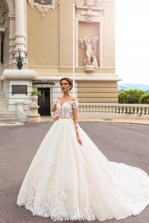 Großhandel Verkauf Von Edel Neuesten Design Brautkleider 2019 Prinzessin Brautkleider Herrlich Langarm Spitzentemperament Brautkleider Von