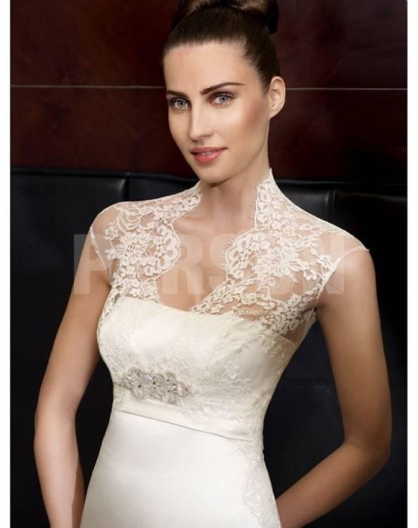 com VerfügtMode abnehmbarer Kragen Appliques A Line Brautkleider Hochzeitskleider 2016