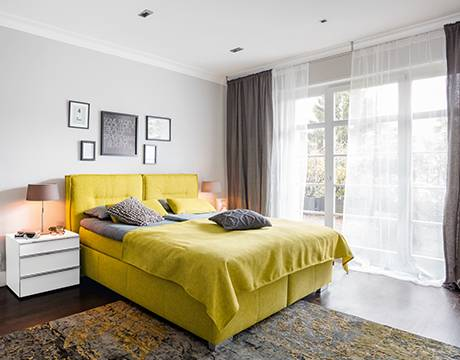 MONDO Schlafzimmer CATUN Weiß matt/Weiß Hochglanz ca