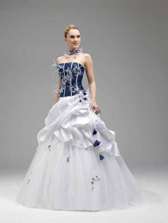 Hochzeitskleid Abendkleid ärmellos mit Bolero dunkelblau Gr