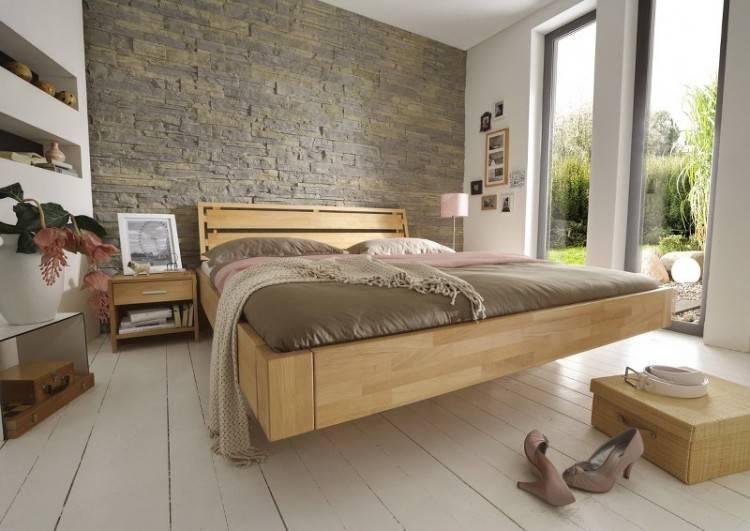 Wildeiche geölt Doppelbett – Bild 1