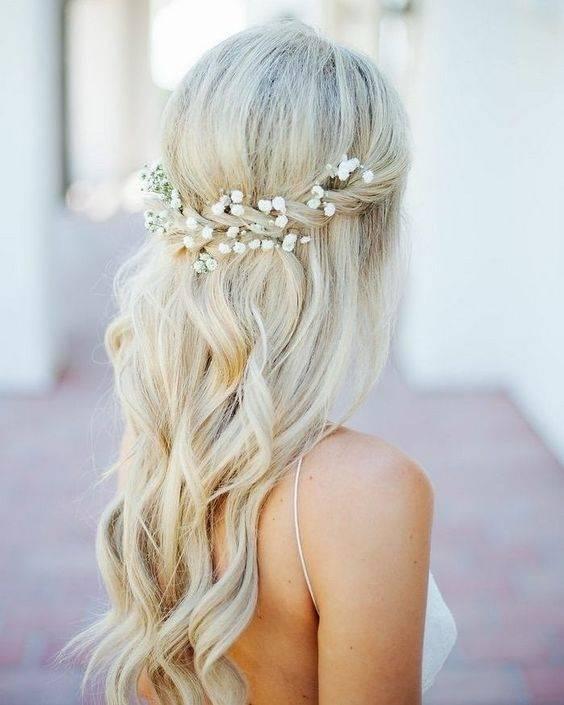 Hochzeit Hochsteckfrisur mit Rose Gold Boho Kopfstück / www