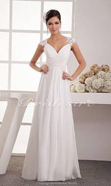 Mingxuerong Lang Spitzen Hochzeitskleid Empire Stil Brautkleid: Amazon