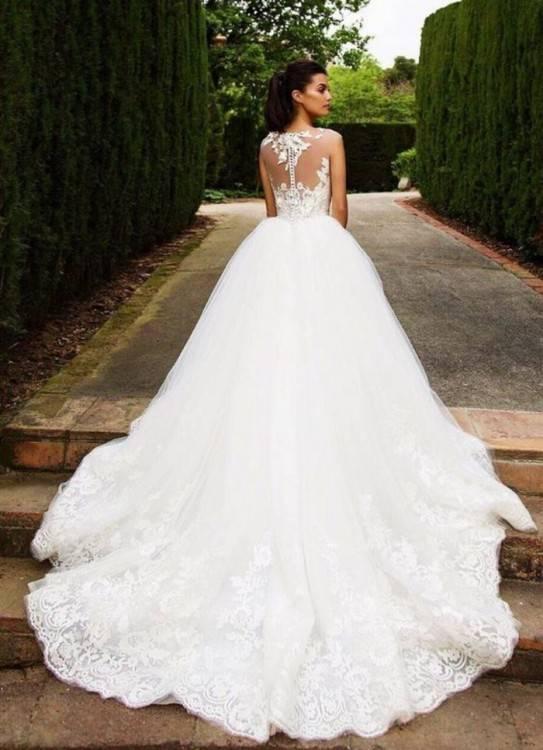 Llorenzorossib Ridal 2017 Mermaid Brautkleider Hochhals Kurzarm SpitzeApplique Brautkleider mit abnehmbarer Schleppe Brautkleid