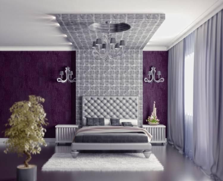 Mehrteiliges Schlafzimmer in Weiß mit kontrastierenden Highlights