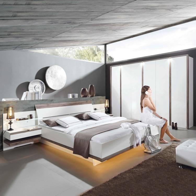 MONDO Schlafzimmer CATUN Weiß matt/Brillantweiß Hochglanz Bild
