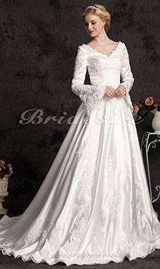 Hochzeitskleid creme Träger + Bolero