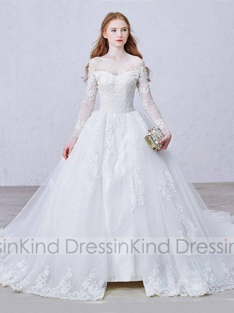 Zwei Stück Spitze Hochzeitskleid Ballkleid Brautkleid  Lagergröße.