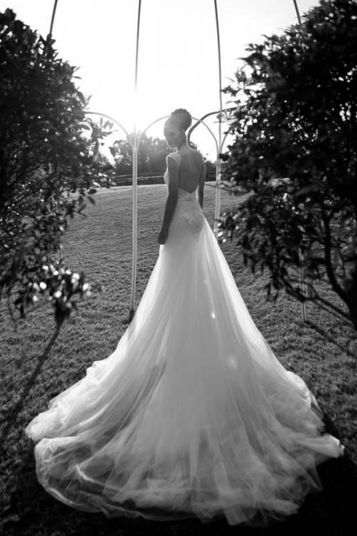 Prinzessin Brautkleid mit langer Schleppe