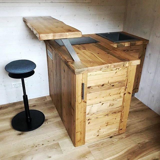 Massivholz Küche Selber Bauen Roomido Zweizeilig Mit