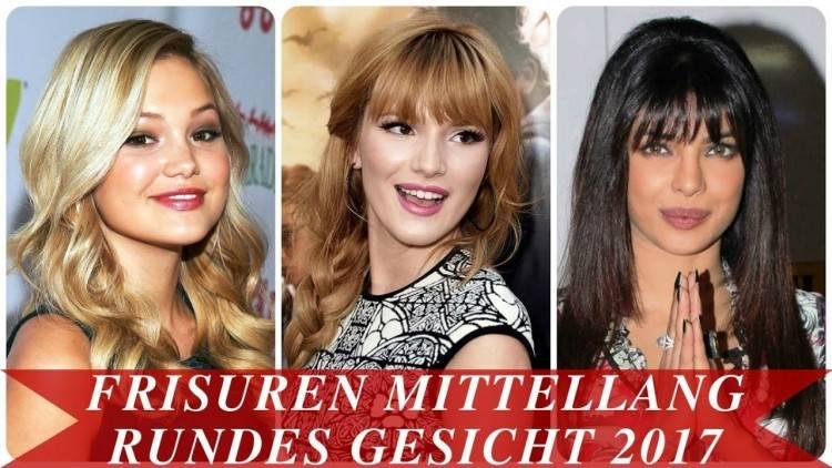 Frisuren Halblang 2018 Rundes Gesicht Schön Frisuren Mittellang In  Bezug Frisuren Halblang Rundes Gesicht Das Sind