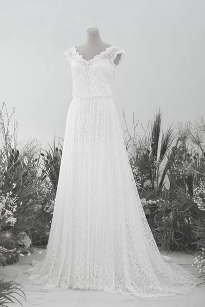 Großhandel Country Style Bohemian Günstige Mermaid Brautkleider Sexy Long  Sleeves Spitze Appliqued Sweep Zug Backless Brautkleider Hochzeitskleid  Custom Von