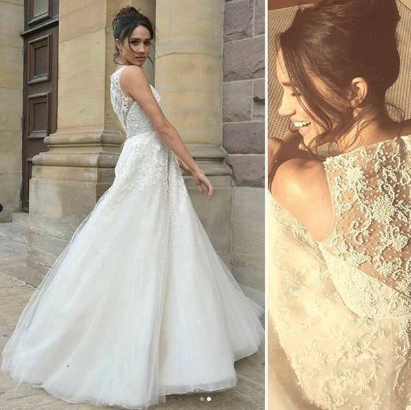 Kann man sich gut an Meghan Markle vorstellen: das Hochzeitskleid von  Divine Atelier