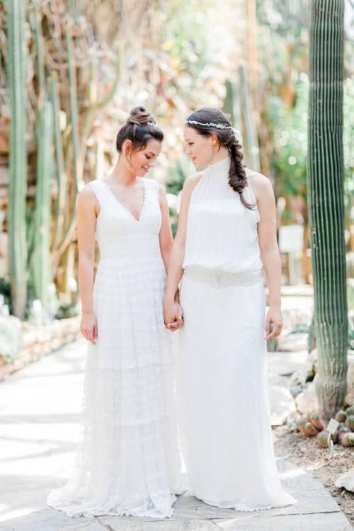 Boho Brautkleid aus Spitze / Zweiteiler / Hochzeitskleid 2
